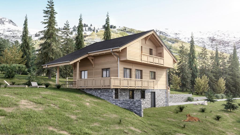Vue splendide Montagne - terrain  690 m² - Constructible - Thônes