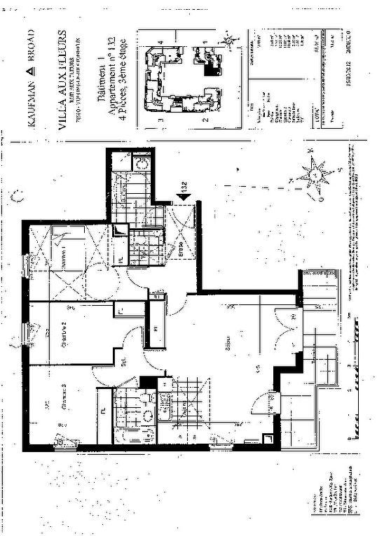 Appartement Voisins Le Bretonneux 4 pièce(s) 86 m2